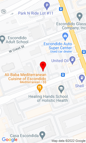 Google Map of Toolshed Rentals and Sales  156 W Mission Avenue, Escondido, CA, 92025
